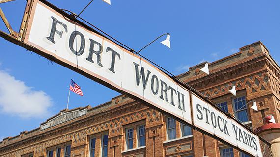 Fort Worth Stockyards in Texas