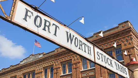Fort Worth Stockyards in Texas